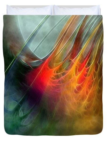 Between Heaven And Earth-abstract Duvet Cover