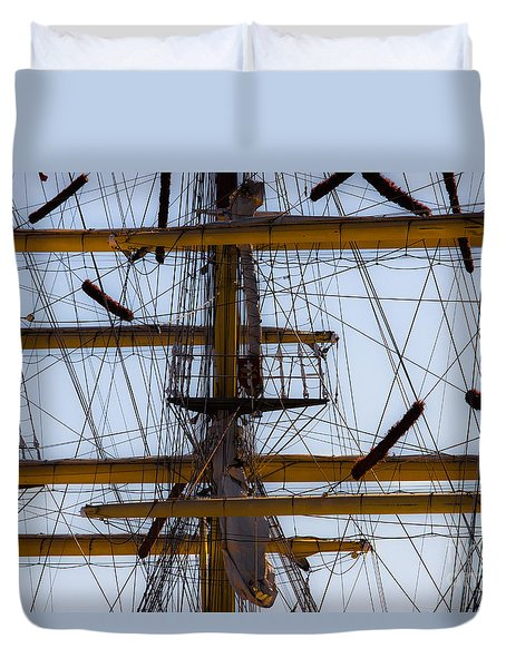 Between Masts And Ropes Duvet Cover
