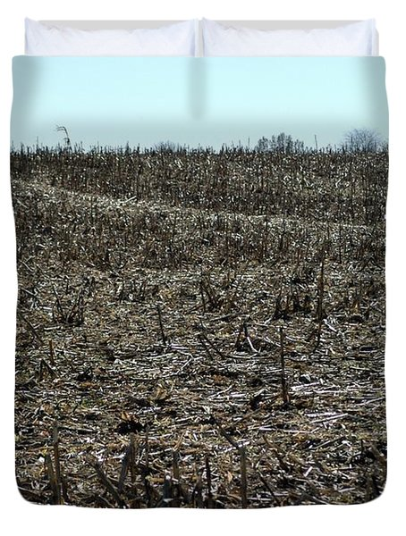Between Sky And Field Duvet Cover by Joseph Yarbrough