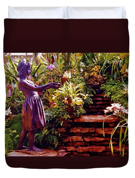 Between The Steps Duvet Cover