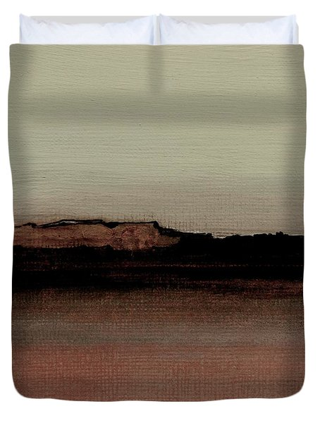 Between The Woods And Frozen Lake  Number 1133-10 Duvet Cover by Diane Strain