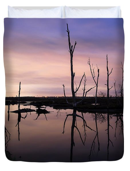 Between Two Worlds By Denise Dube Duvet Cover