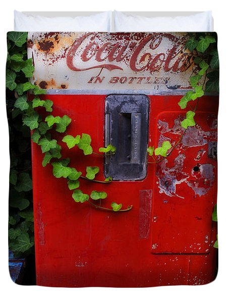 Austin Texas - Coca Cola Vending Machine - Luther Fine Art Duvet Cover by Luther Fine Art
