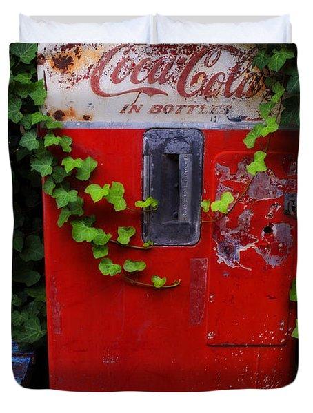 Austin Texas - Coca Cola Vending Machine - Luther Fine Art Duvet Cover