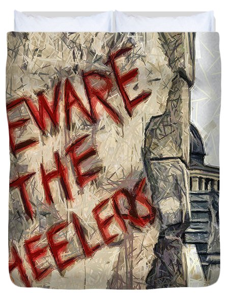 Beware The Wheelers Duvet Cover by Joe Misrasi