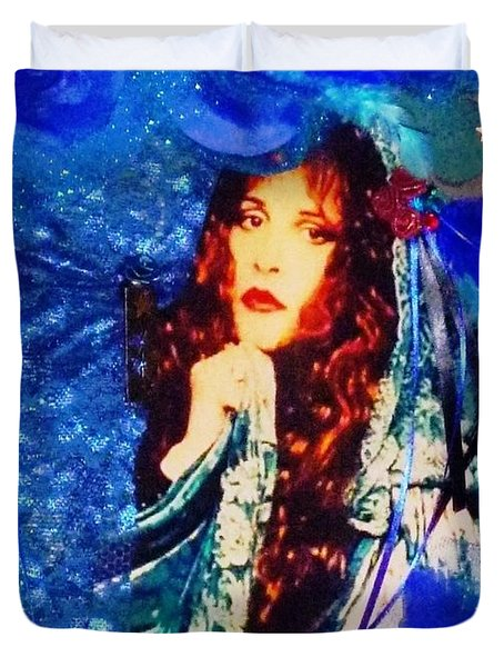 Bewitched In Blue Duvet Cover by Alys Caviness-Gober