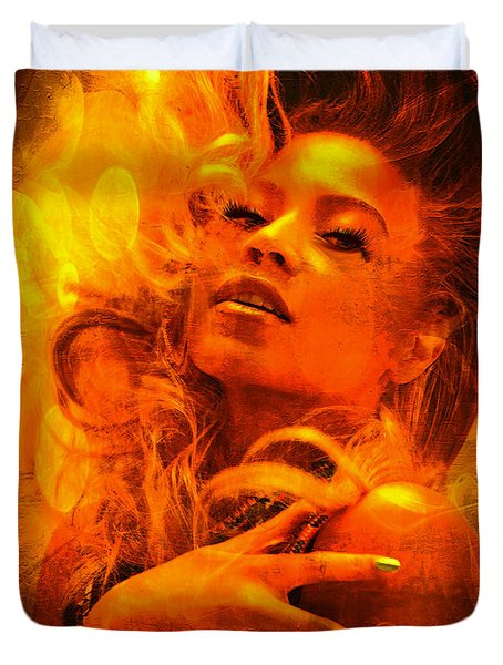 Beyonce Knowles Wrapped In Chocolate - Featured In Comfortable Art Group Duvet Cover by EricaMaxine  Price