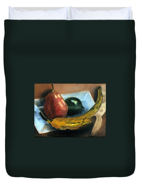 Duvet Cover featuring the painting Beyond Banana Nut Bread by LaVonne Hand