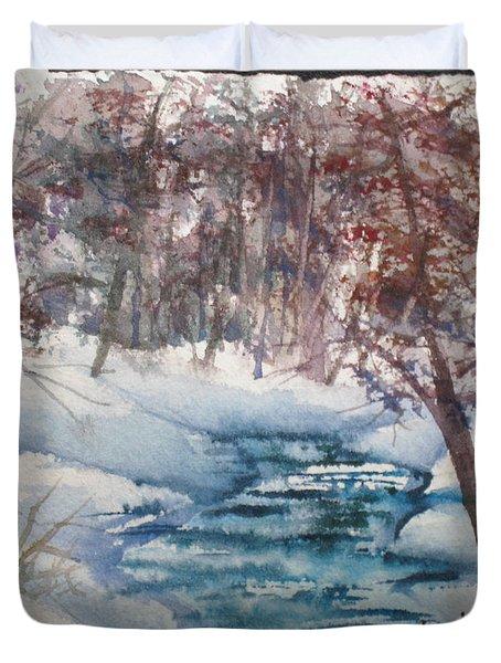Beyond The Pond Duvet Cover by Mohamed Hirji