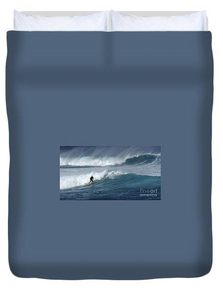Beyond The Reef Duvet Cover by Bob Christopher