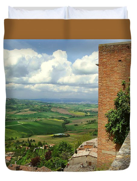 Beyond The Rooftops 2 Duvet Cover by Ellen Henneke