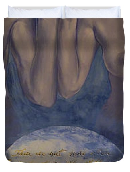 Beyond The Universe Duvet Cover by Dorina  Costras