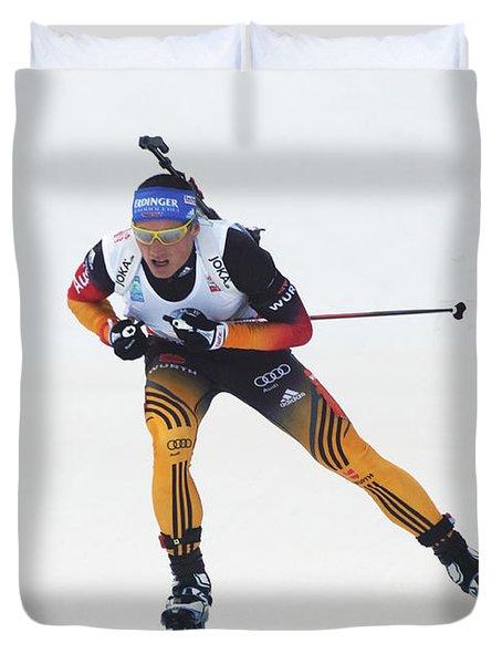 biathlete Erik Lesser Germany Duvet Cover