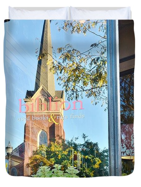 Biblion Used Books Reflections 3 - Lewes Delaware Duvet Cover