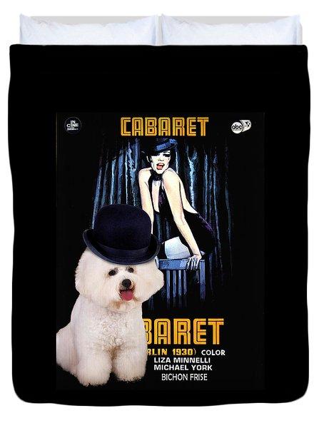 Bichon Frise Art - Cabaret Movie Poster Duvet Cover