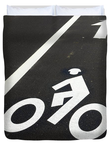 Bicycle Lane Duvet Cover