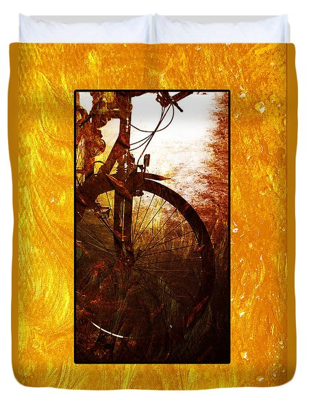 Duvet Cover featuring the photograph Bicycle  by Randi Grace Nilsberg