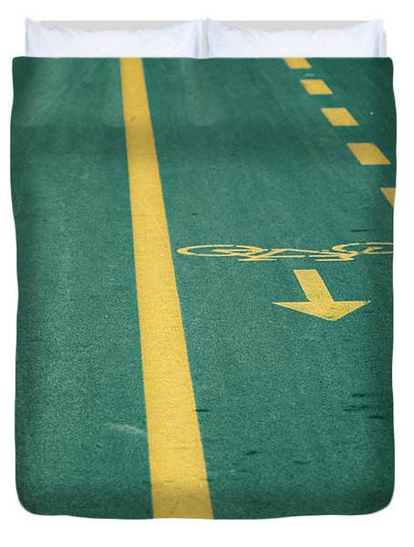 Bicycle Tracks Duvet Cover