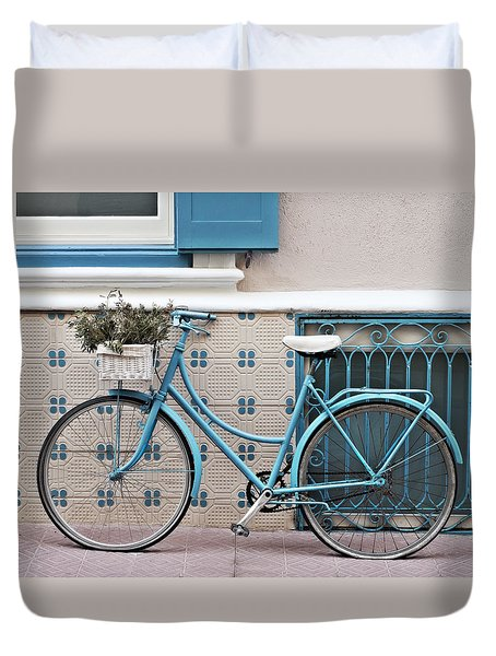 Vintage Bicycle Photography - Bicycles Are Not Only For Summer Duvet Cover