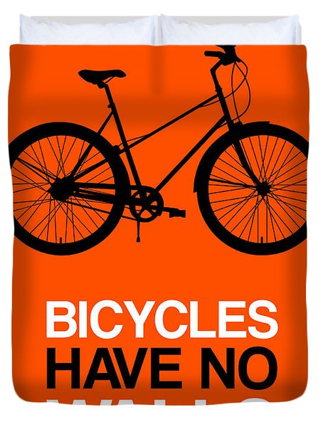 Bicycles Have No Walls Poster 1 Duvet Cover