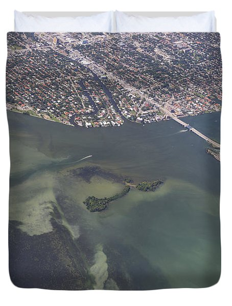 Bidr's Eye View Of Beautiful Miami Beachfront Duvet Cover by Angela A Stanton