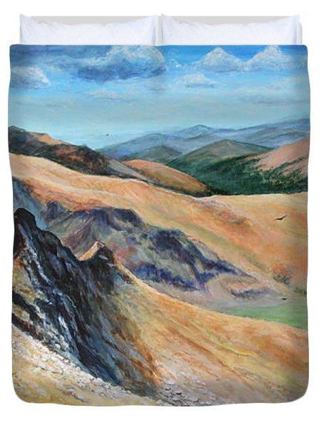 Bierstadt Saddle Duvet Cover