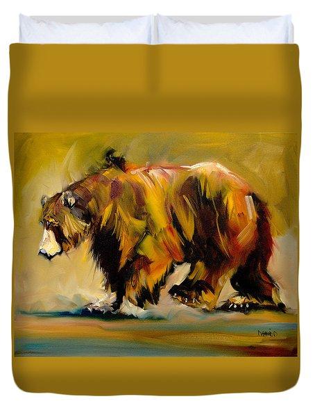 Big Bear Walking Duvet Cover
