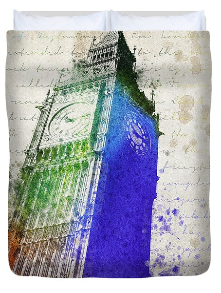 Big Ben Duvet Cover by Aged Pixel
