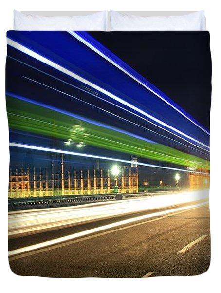 Big Ben And A Bus Duvet Cover