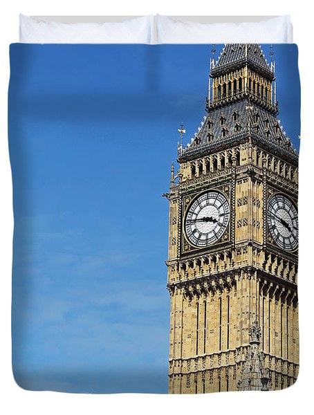 Big Ben And London Eye Duvet Cover
