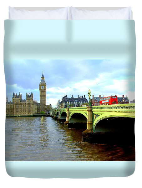 Big Ben And River Thames Duvet Cover