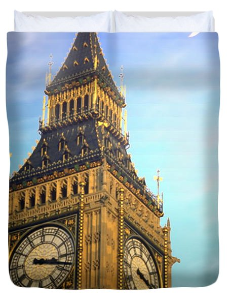 Big Ben Duvet Cover by Joyce Dickens