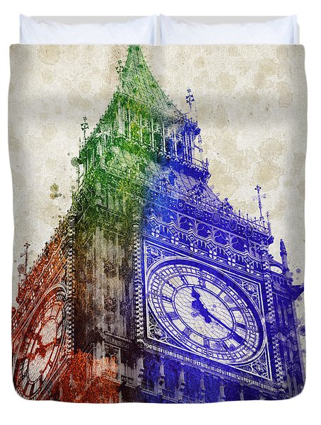 Big Ben London Duvet Cover by Aged Pixel
