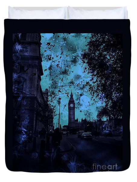Big Ben Street Duvet Cover
