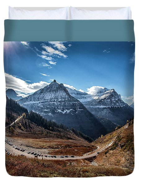 Duvet Cover featuring the photograph Big Bend by Aaron Aldrich
