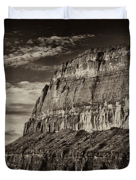 Big Bend Cliffs Duvet Cover