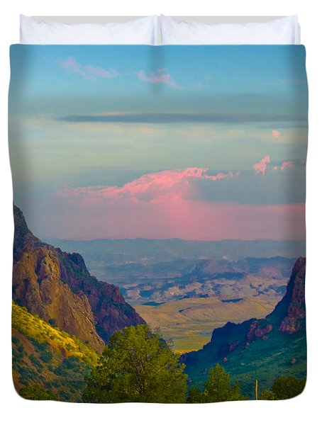Big Bend Texas From The Chisos Mountain Lodge Duvet Cover