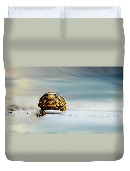 Big Big World Duvet Cover by Laura Fasulo