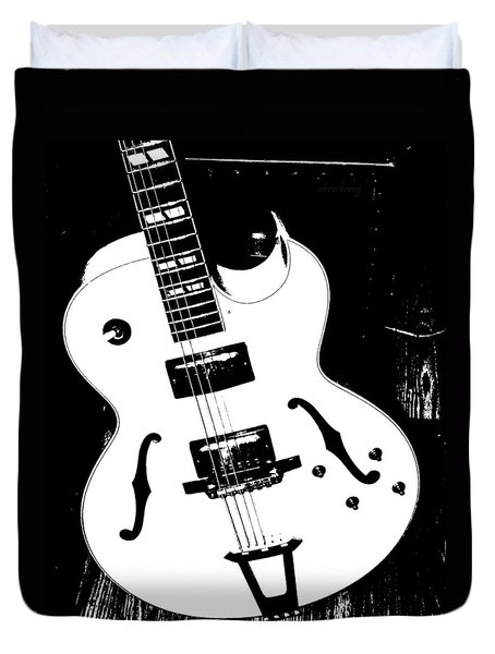 Big Ol Gibson Duvet Cover by Chris Berry