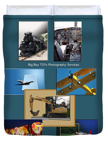 Big Boy Toys Photography Services Duvet Cover by Thomas Woolworth