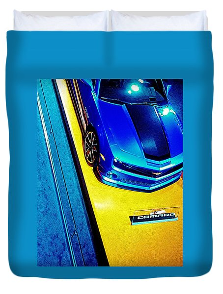 Duvet Cover featuring the photograph Big Boys Toys  Hot Wheels by Daniel Thompson