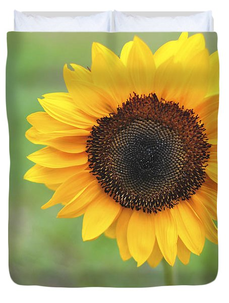 Big Bright Yellow Colorful Sunflower Art Print Duvet Cover