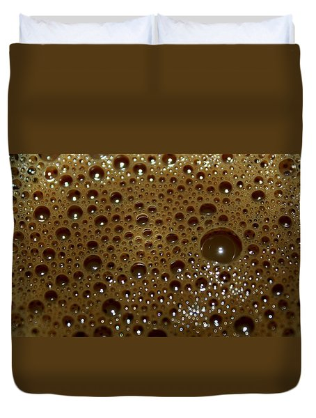 Duvet Cover featuring the photograph Big Bubble - Coffee  by Ramabhadran Thirupattur