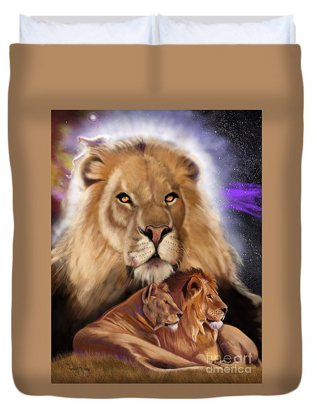 Third In The Big Cat Series - Lion Duvet Cover