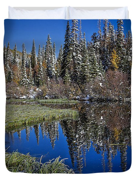 Big Cottonwood Canyon  Duvet Cover by Richard Cheski