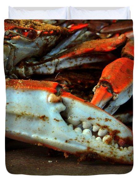 Big Crab Claw Duvet Cover