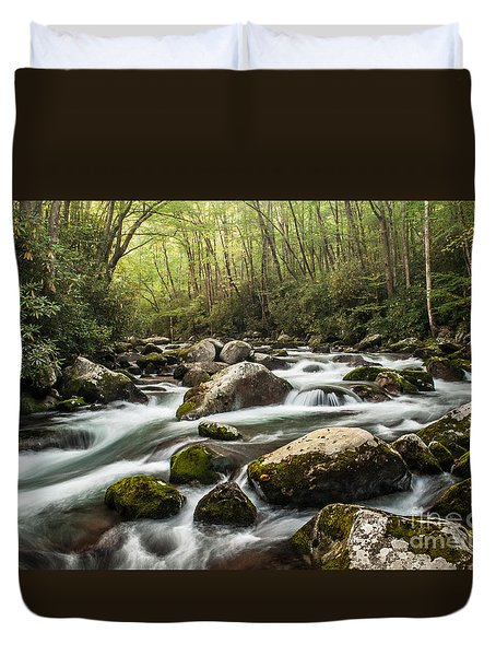Duvet Cover featuring the photograph Big Creek by Debbie Green