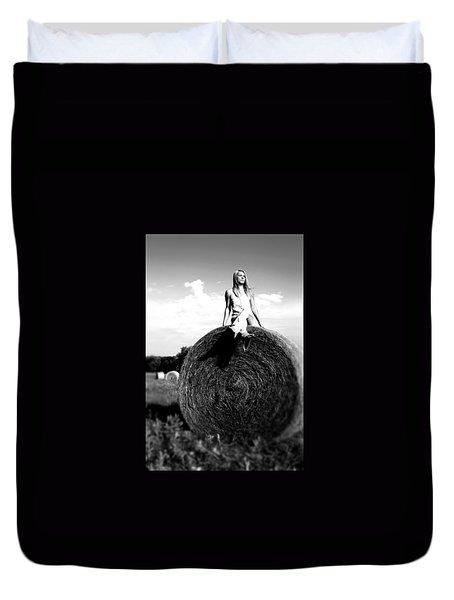 Duvet Cover featuring the photograph Big Dreams Bw by Elizabeth Sullivan