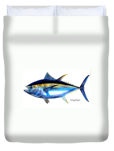 Big Eye Tuna Duvet Cover by Carey Chen