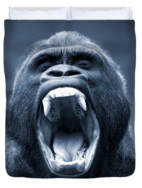 Big Gorilla Yawn Duvet Cover